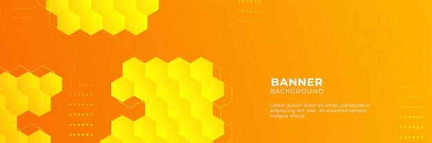 Moderne orange und gelbe abstrakte fahnenhintergrund-designschablone des farbverlaufs