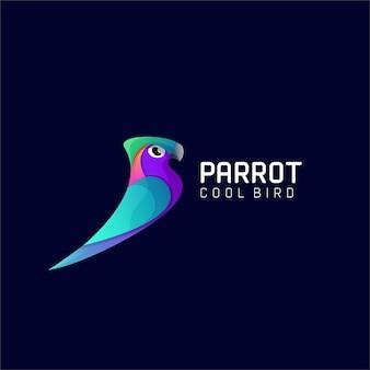 Moderne papageienvogel-bunte steigungslogoschablone