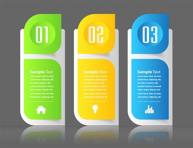 Moderne papier textfeld vorlage, banner infografik