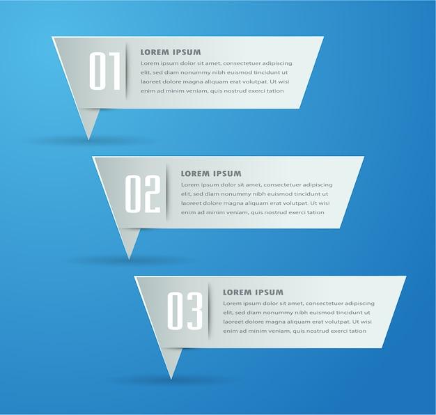 Moderne papier textfeld vorlage banner infografiken