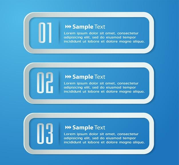 Moderne papier-textfeld-vorlage