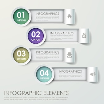 Moderne papierbalkendiagramm-infografik-elementvorlage