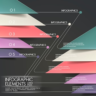 Moderne papierschnitt-dreieck-infografik-elemente-vorlage