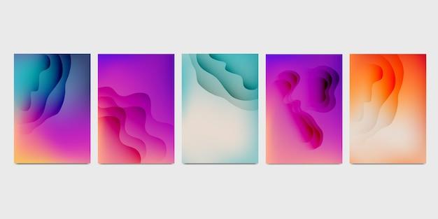 Moderne papierschnittart-plakatsammlung