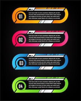 Moderne papiertextfeldschablone, fahne infographic