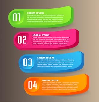 Moderne papiertextfeldvorlage, 3d-sprechblasenfahne infografik