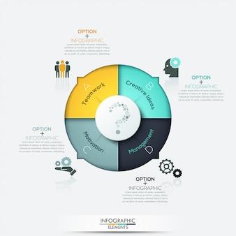 Moderne pfeil geschäft infografiken elemente