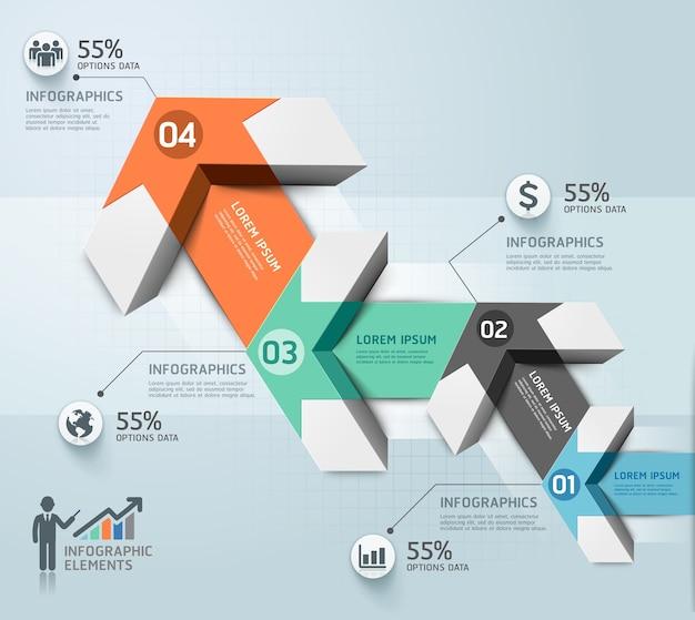 Moderne pfeil infografiken vorlage.