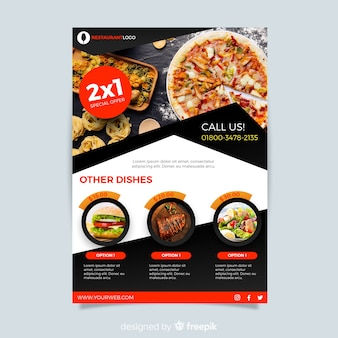 Moderne Pizza Restaurant Flyer Vorlage