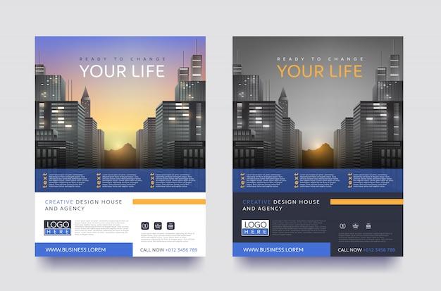 Moderne plakatflieger-broschürenschablone