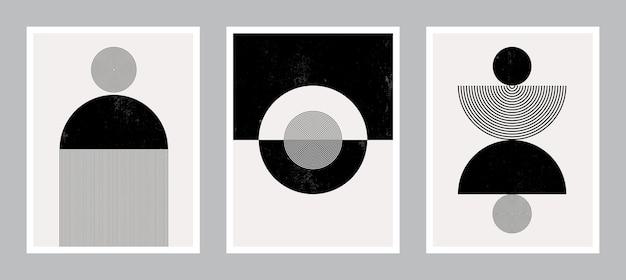 Moderne plakatkunst für druck. abstrakte wandkunst. digitale innendekoration art. v.