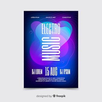 Moderne plakatschablone der elektronischen musik