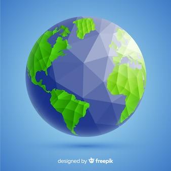 Moderne planetenerdzusammensetzung mit polygonaler art
