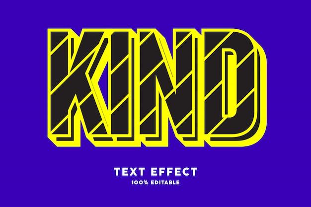 Moderne pop-art mit schwarzem und gelbem texteffekt