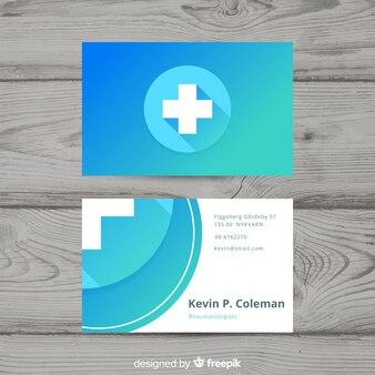 Moderne professionelle visitenkarte mit medizinischem konzept
