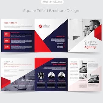 Moderne quadratische dreifachgefaltete broschüre