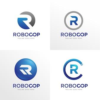 Moderne r-logo-sammlung
