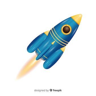 Moderne rakete mit realistischem design