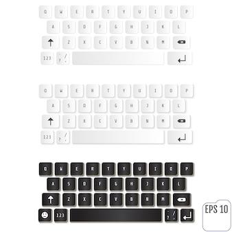 Moderne realistische tastaturen