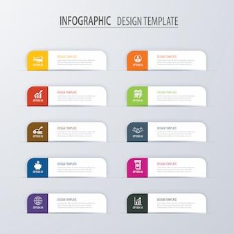 Moderne registerkarte index infografik optionen vorlage mit papierbögen.
