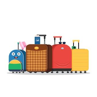 Moderne reisetaschen