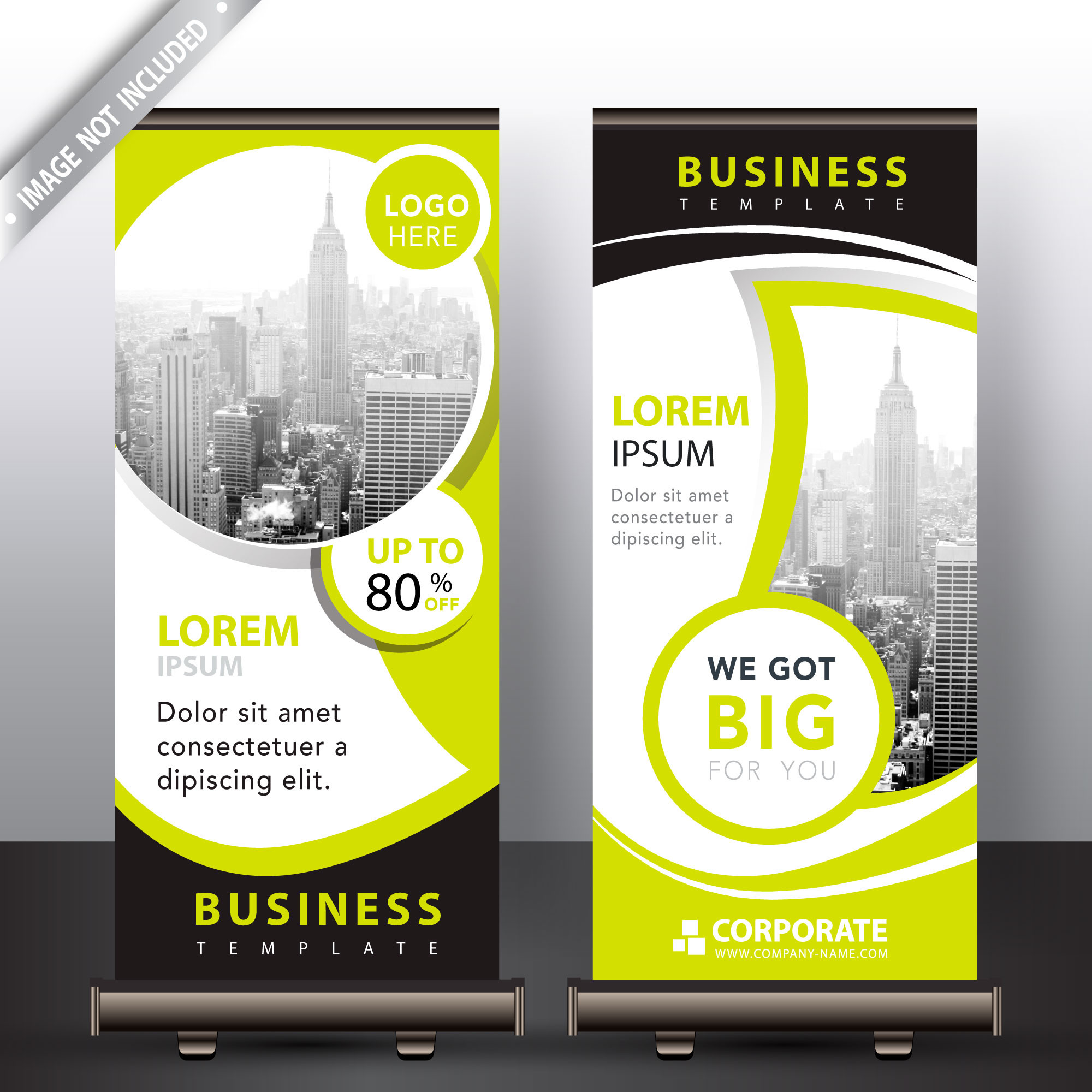 Moderne Roll-Up-Banner