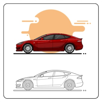 Moderne rote autos einfach