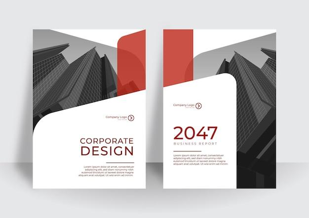 Moderne rote cover-design-vorlage. vorlage für den jahresbericht oder die buchgestaltung des unternehmens