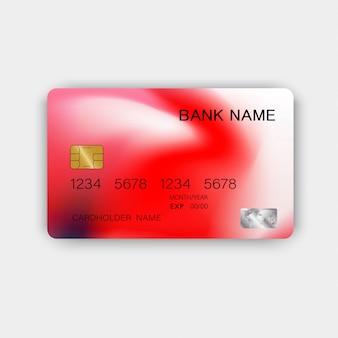 Moderne rote kreditkarte