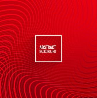 Moderne rote linien geometrischen wellenhintergrund