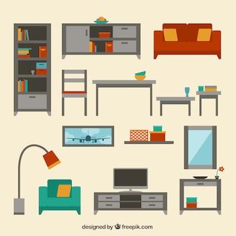 Moderne sammlung von wohnmöbel