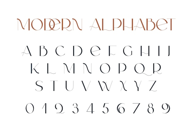 Moderne sans-serif-eleganz-schriftart klassische minimale kontrastreiche hochzeitsschrift in großbuchstaben