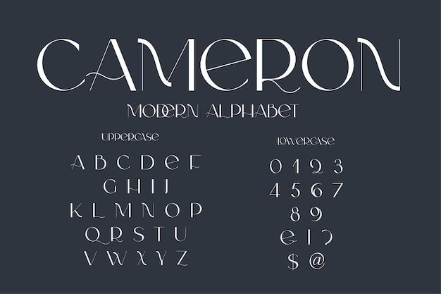 Moderne sans-serif-eleganz-schriftart klassische minimale kontrastreiche hochzeitsschrift nur in großbuchstaben