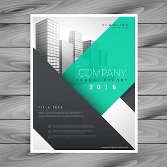 Moderne saubere geschäft broschüre präsentationsvorlage