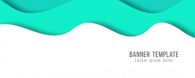 Moderne schablone der abstrakten eleganten papierschnittfahne