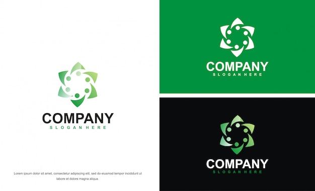 Moderne schönheit abstrakte logo entwurfsvorlage