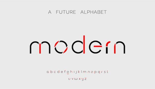 Moderne schrift kreative moderne alphabet-schriften