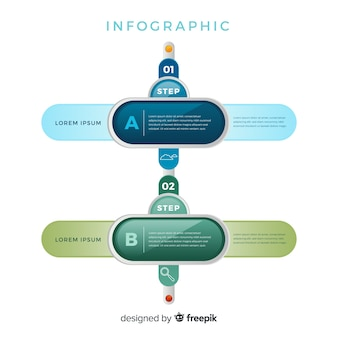 Moderne schritte infografik