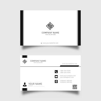 Moderne schwarz-weiße visitenkarten-designvorlage