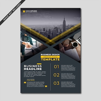 Moderne schwarze farbgeschäfts-flyer-vorlage