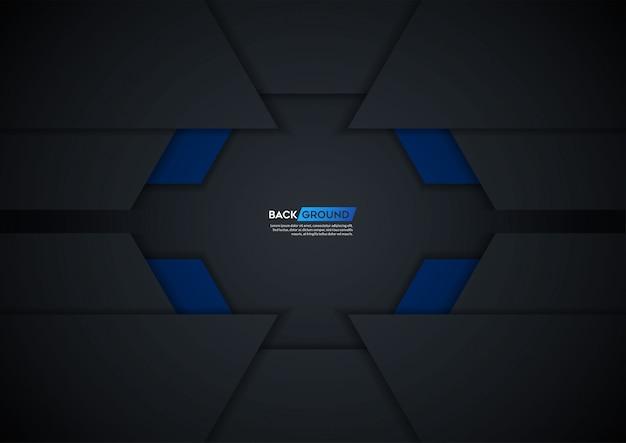 Moderne schwarze tech-mesh-hintergrund cover-vorlage