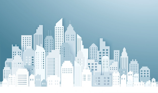 Moderne skyline der stadt