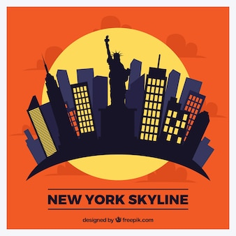 Moderne skyline von new york