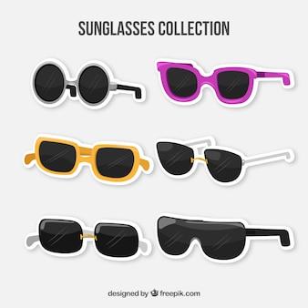 Moderne sonnenbrille sammlung in flachen stil