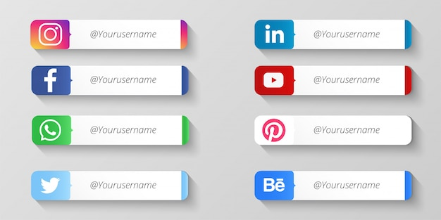 Moderne soziale medien unteres drittel