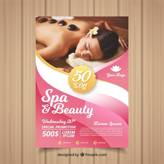 Moderne spa-flyer-vorlage