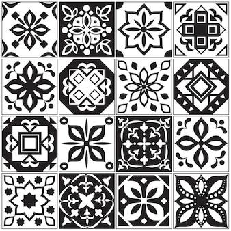 Moderne spanische und türkische innenfliesen. küchenblumenmuster