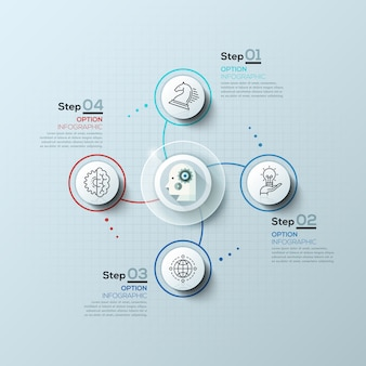 Moderne spirale infografiken optionen