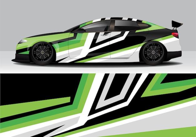 Moderne sportliche abstrakte autoverpackung, autoaufkleber