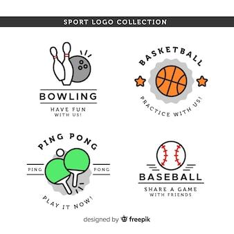Moderne sportlogo-sammlung